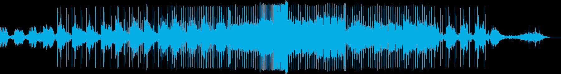 ダークでアップチューンなEDM風のBGMの再生済みの波形
