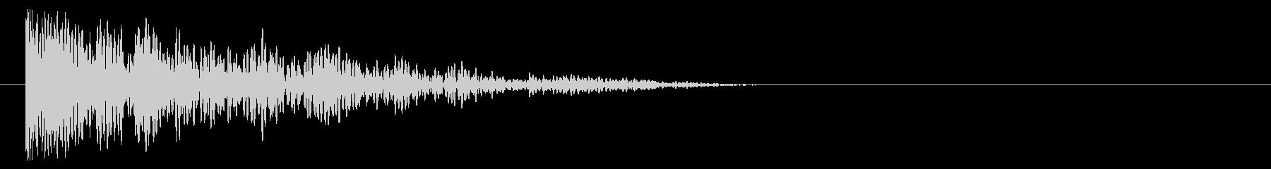 低音インパクト_ショックの未再生の波形