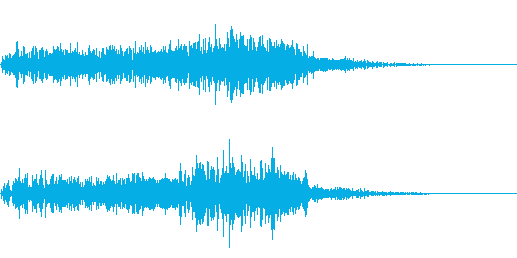 サスペンスに最適!ピアノの弦を弄ぶ音27の再生済みの波形