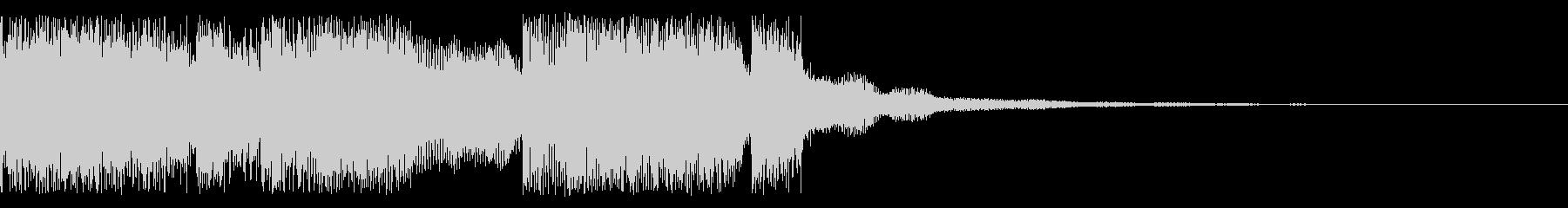 シーン変更時のサウンドの未再生の波形