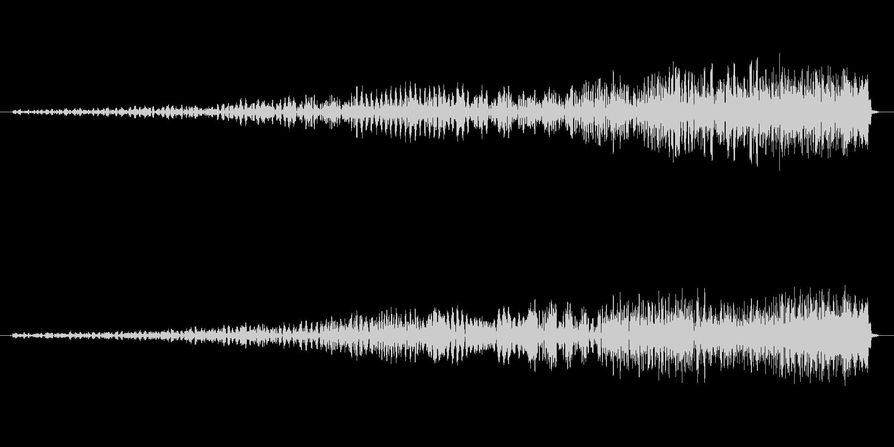 フェードイン・爆発の反転音の未再生の波形