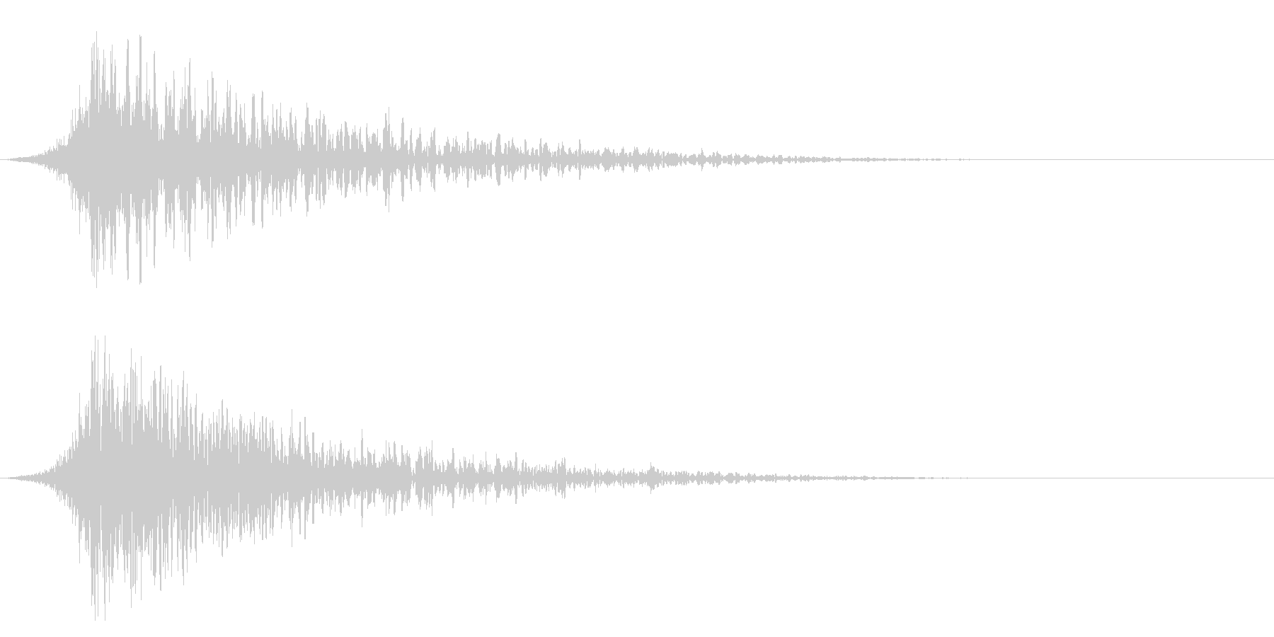 シュードーン-23-1(インパクト音)の未再生の波形