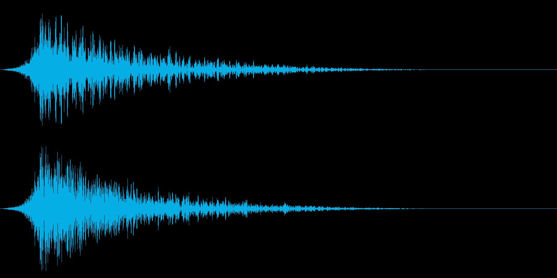 シュードーン-23-1(インパクト音)の再生済みの波形