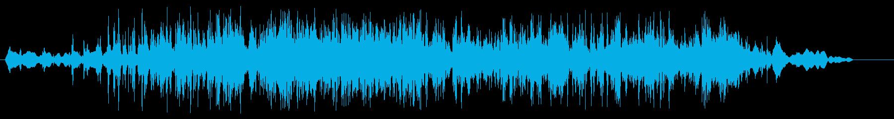 細々したものをばらまいた音の再生済みの波形