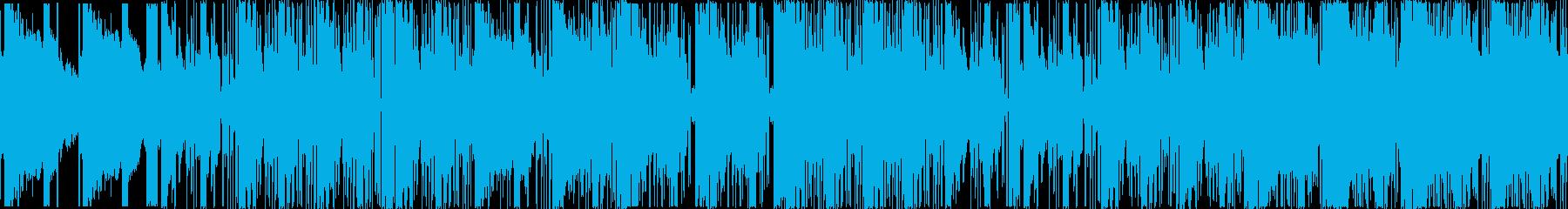 シンセのHIPHOP×DUBSTEPの再生済みの波形