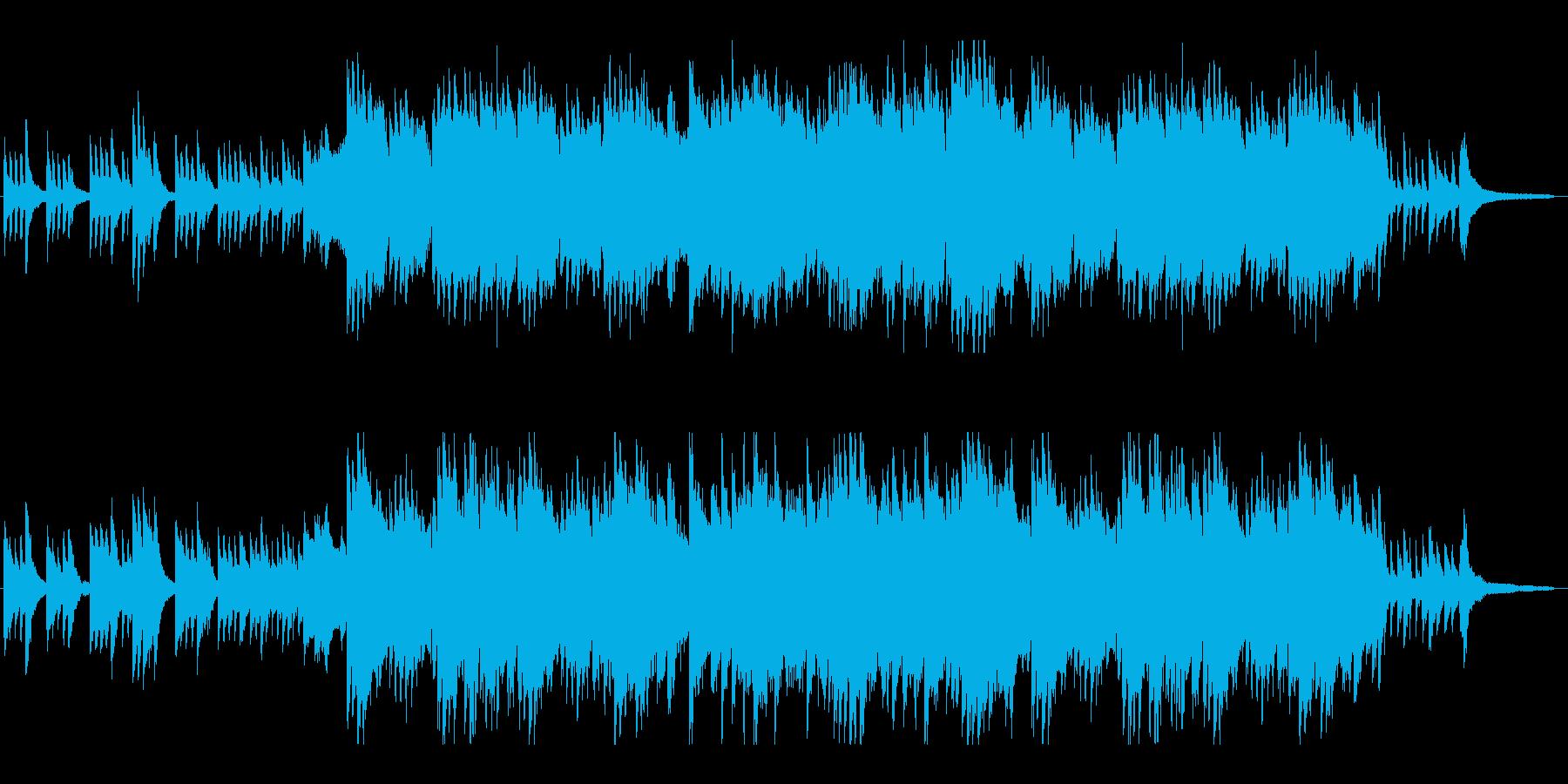 和楽器&ストリングスの美しい和風バラードの再生済みの波形