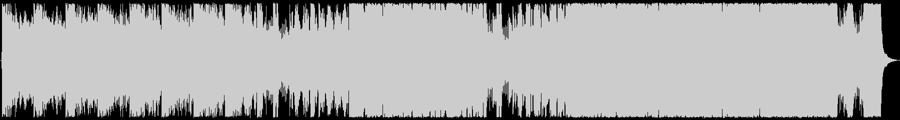 重厚なオーケストラバトル曲の未再生の波形