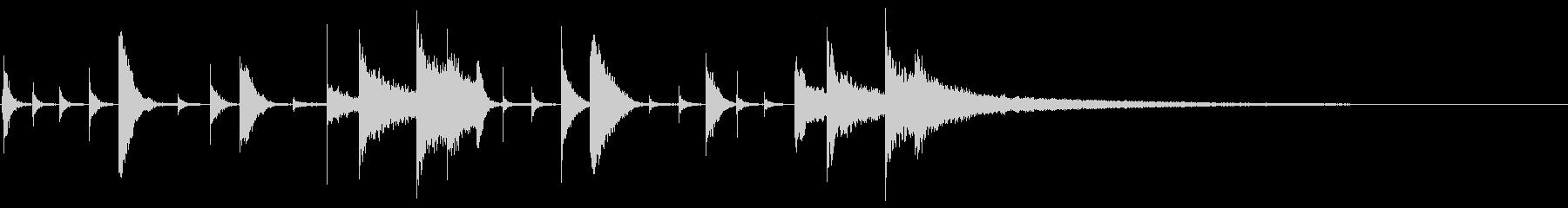 ハイハット:リズミカルなアクセント...の未再生の波形
