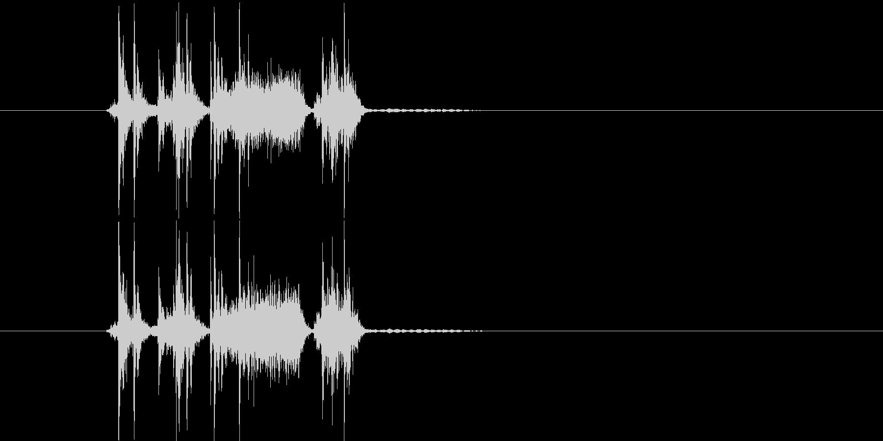 ガッシャパッシャン(写真のシャッター音)の未再生の波形