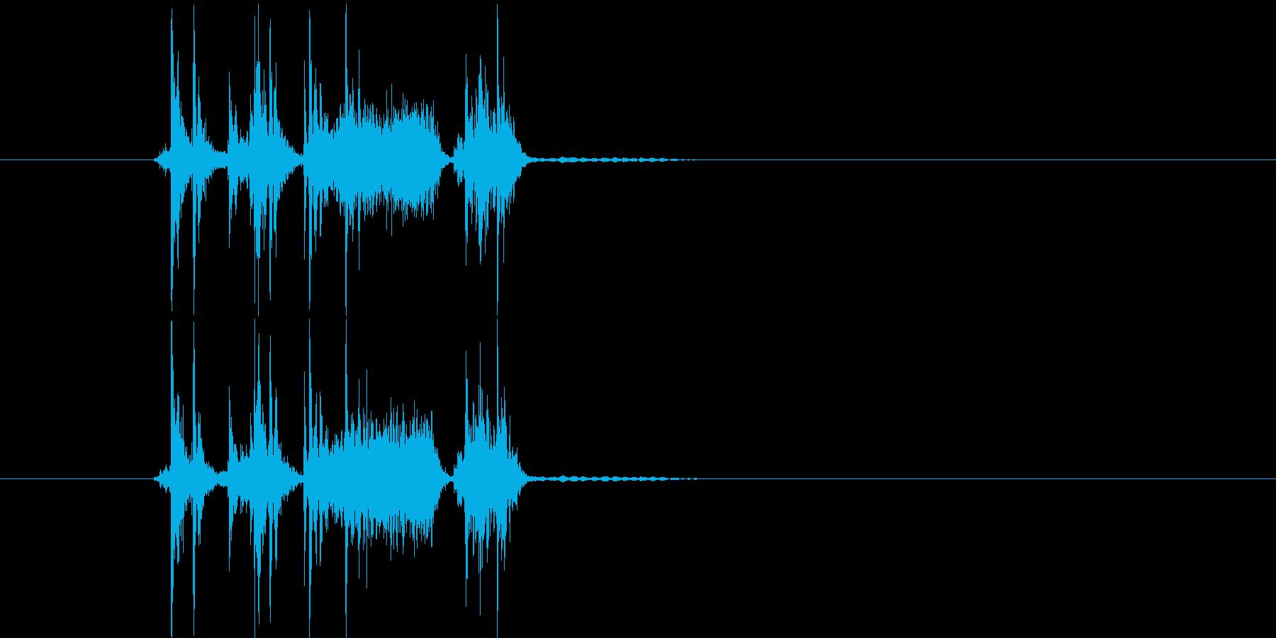 ガッシャパッシャン(写真のシャッター音)の再生済みの波形