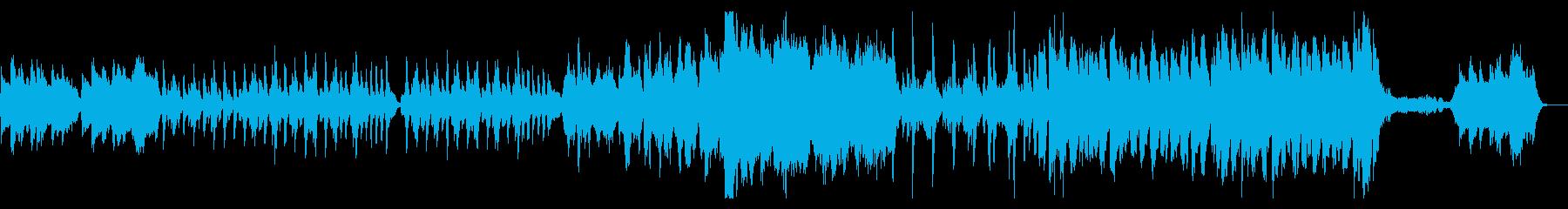 コミカルでちょっとホラーなオーケストラ曲の再生済みの波形