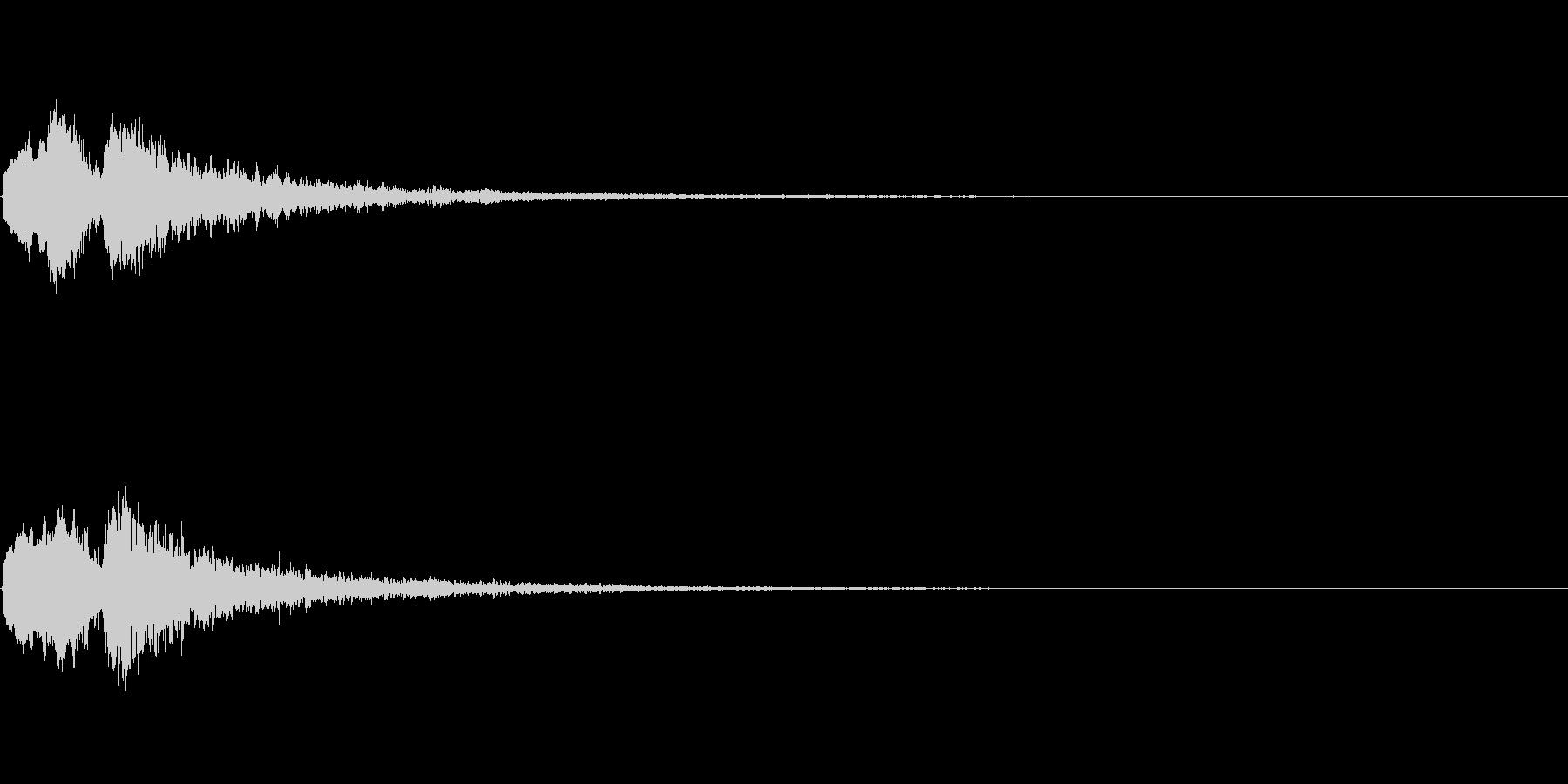 Vox 不気味な鳴き声 ホラーSE 1の未再生の波形