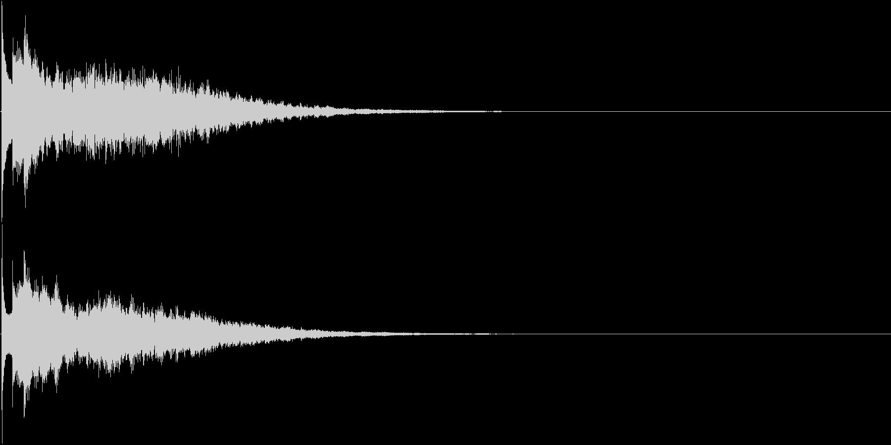 キーン(冷たいイメージ、動画やアプリに)の未再生の波形