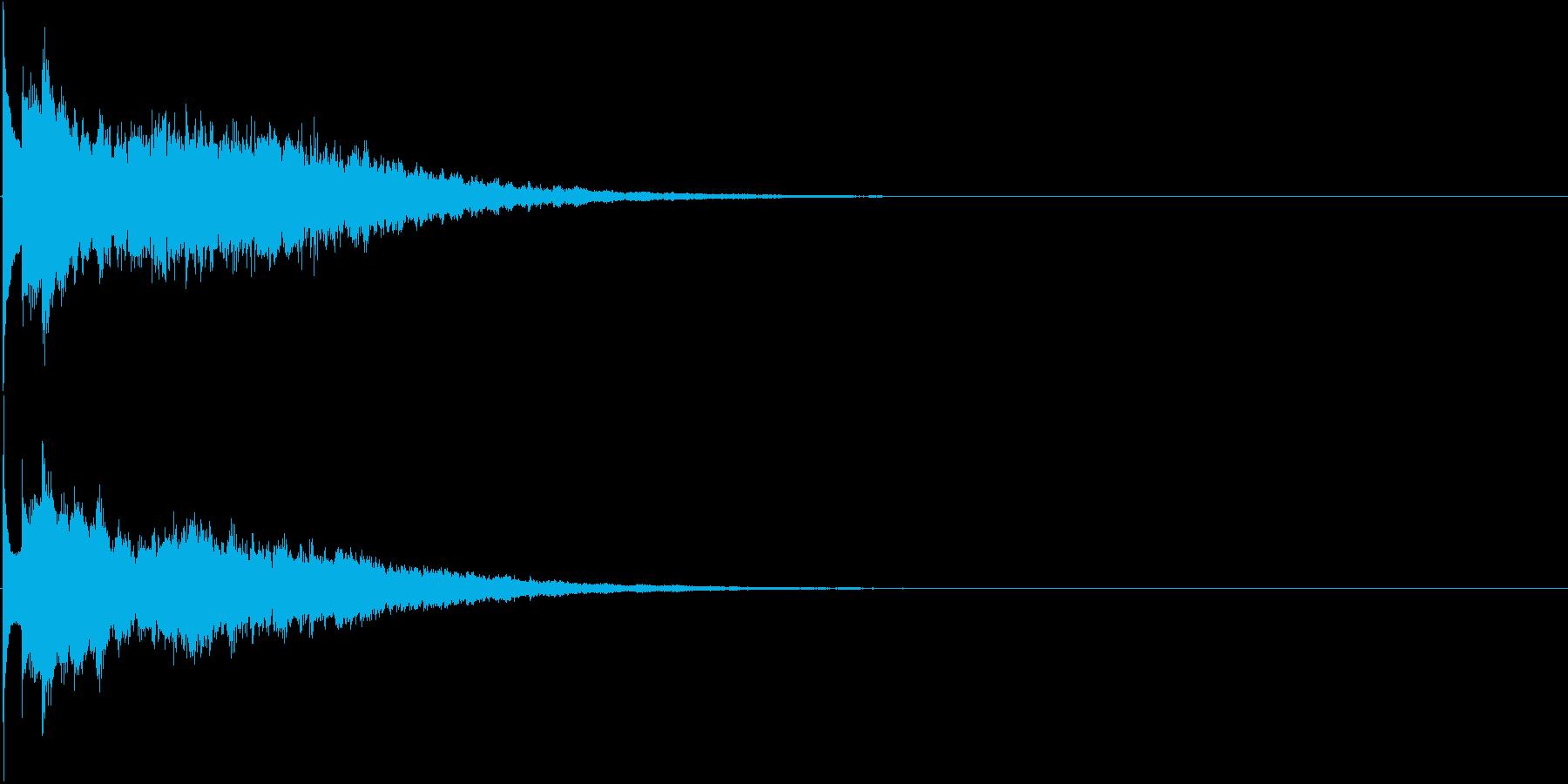 キーン(冷たいイメージ、動画やアプリに)の再生済みの波形