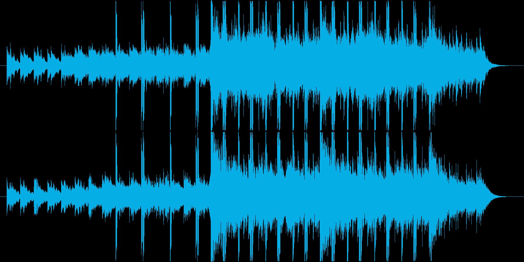 あたたかい印象のゆったりとしたBGMの再生済みの波形