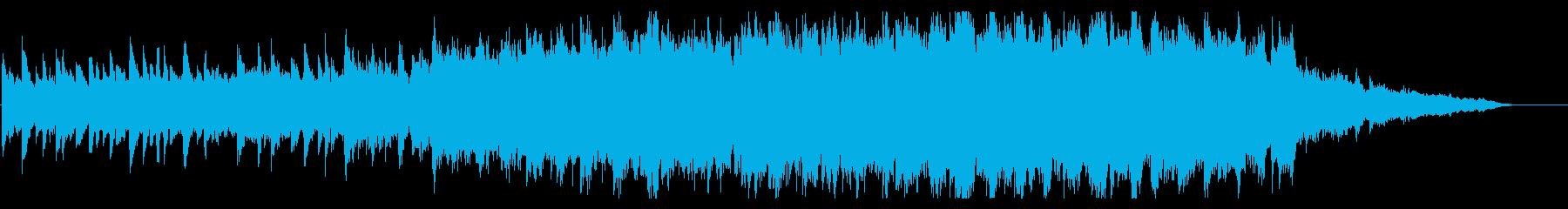 ピアノとストリングスの風を感じるジングルの再生済みの波形