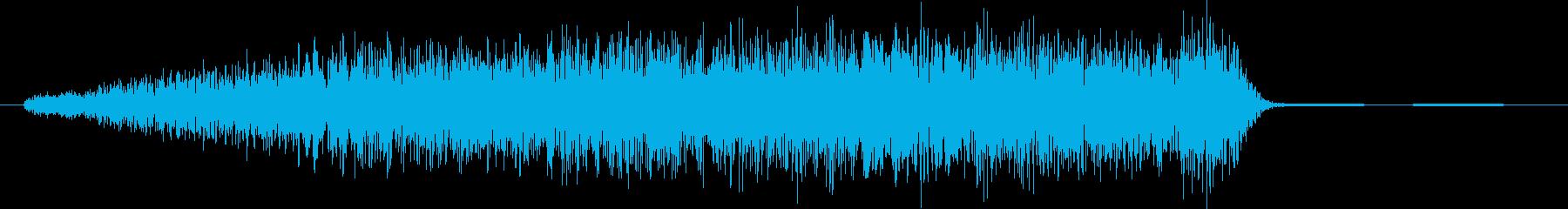 SE 高音ノイズ ギューンの再生済みの波形