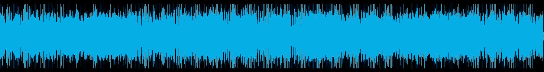 パンクっぽいギターリフの再生済みの波形