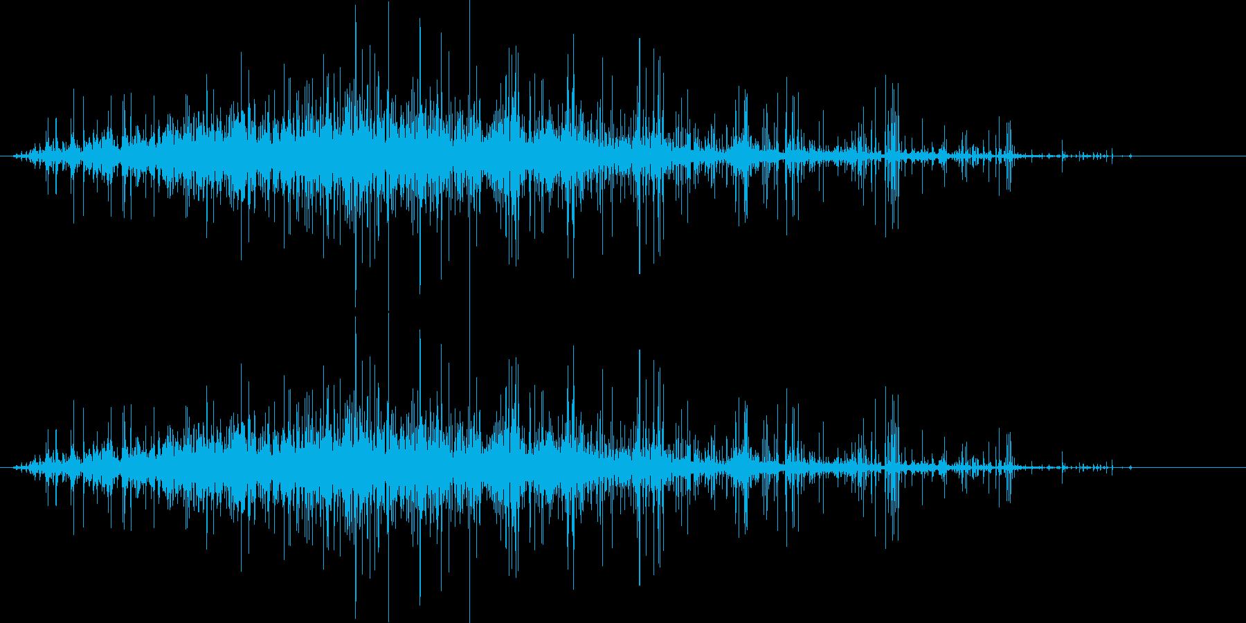 ごろごろガラガラ 瓦礫が崩れる音2の再生済みの波形