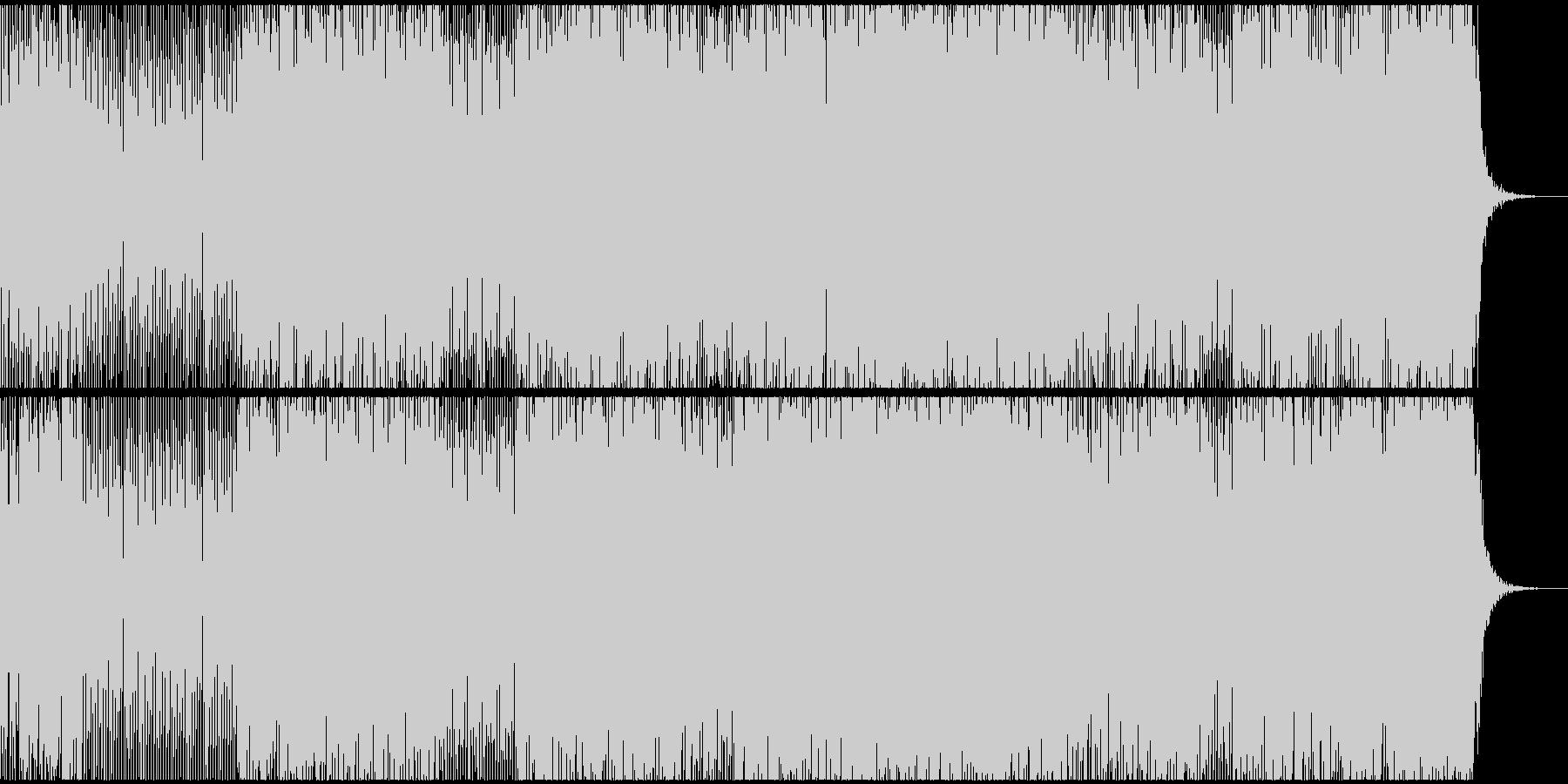 アンビエントでアシッドなテクノサウンドの未再生の波形