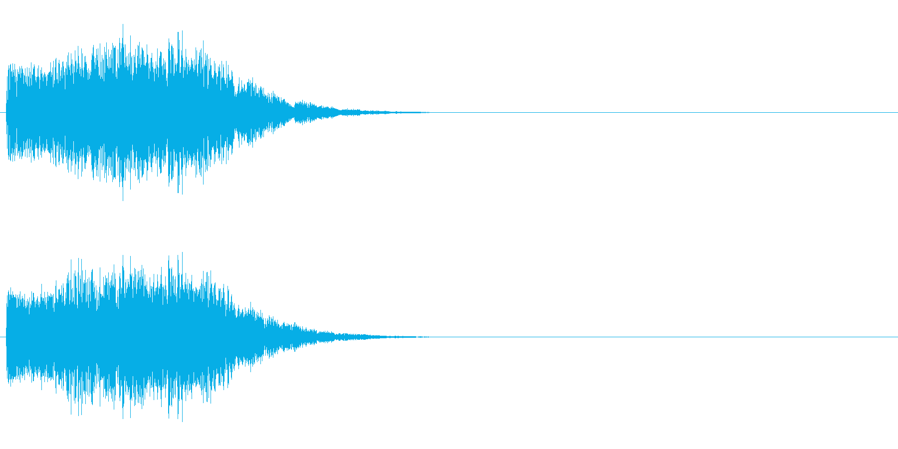 怪しげな決定音/電子音/魔法の再生済みの波形
