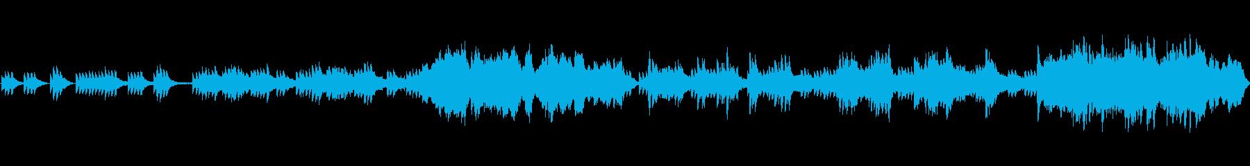 水の中をイメージした静かな音楽の再生済みの波形
