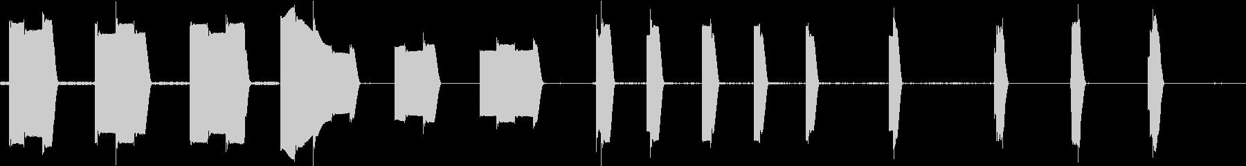 トーンシンセのウォブルプロセスヒットの未再生の波形