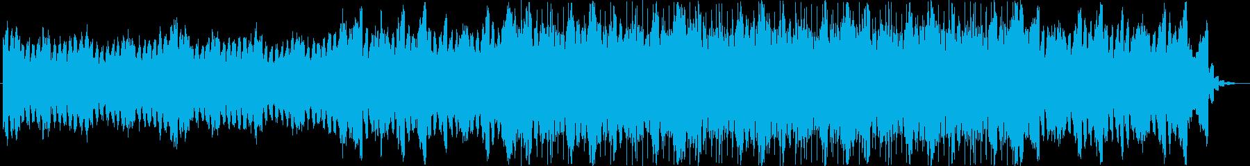 シンセ音のエレクトロニカ系BGMの再生済みの波形