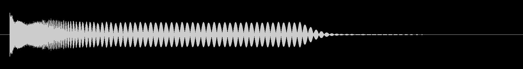 クラブ系 決定音11(プチュン)の未再生の波形