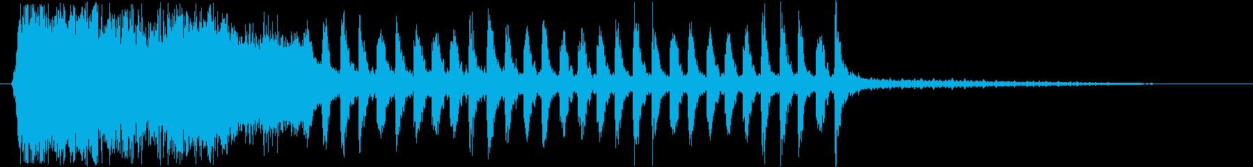 メルヘンなシンセ・木琴などサウンド短めの再生済みの波形
