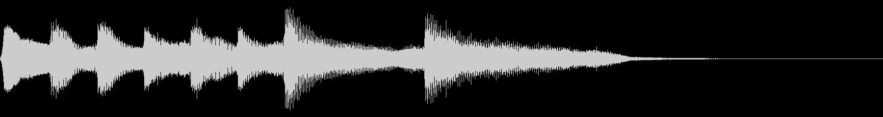 8bit レトロなゲームクリア音 達成の未再生の波形