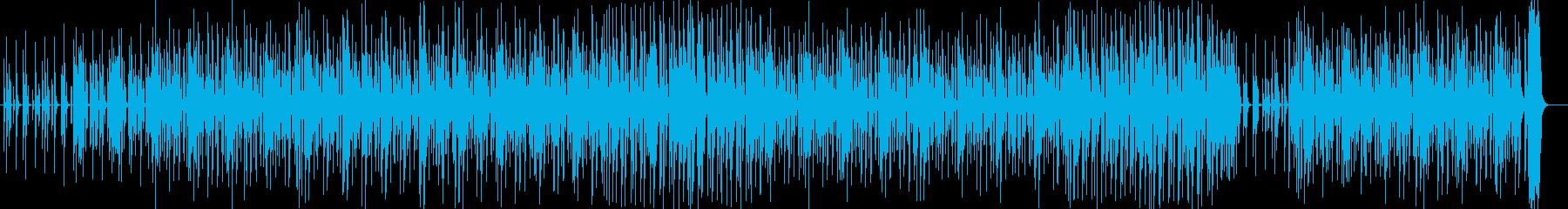 キラキラした音とベースが効いたロックの曲の再生済みの波形