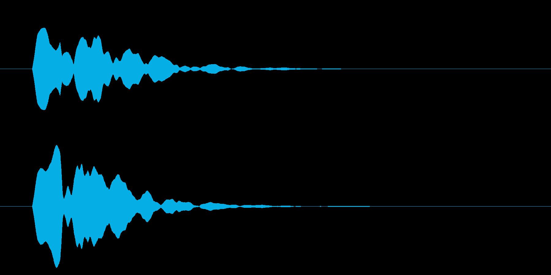 改札 ビープ音01-13(音色2 遠)の再生済みの波形
