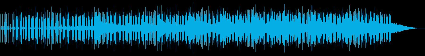 キネマティックな緊迫感のあるテクノの再生済みの波形