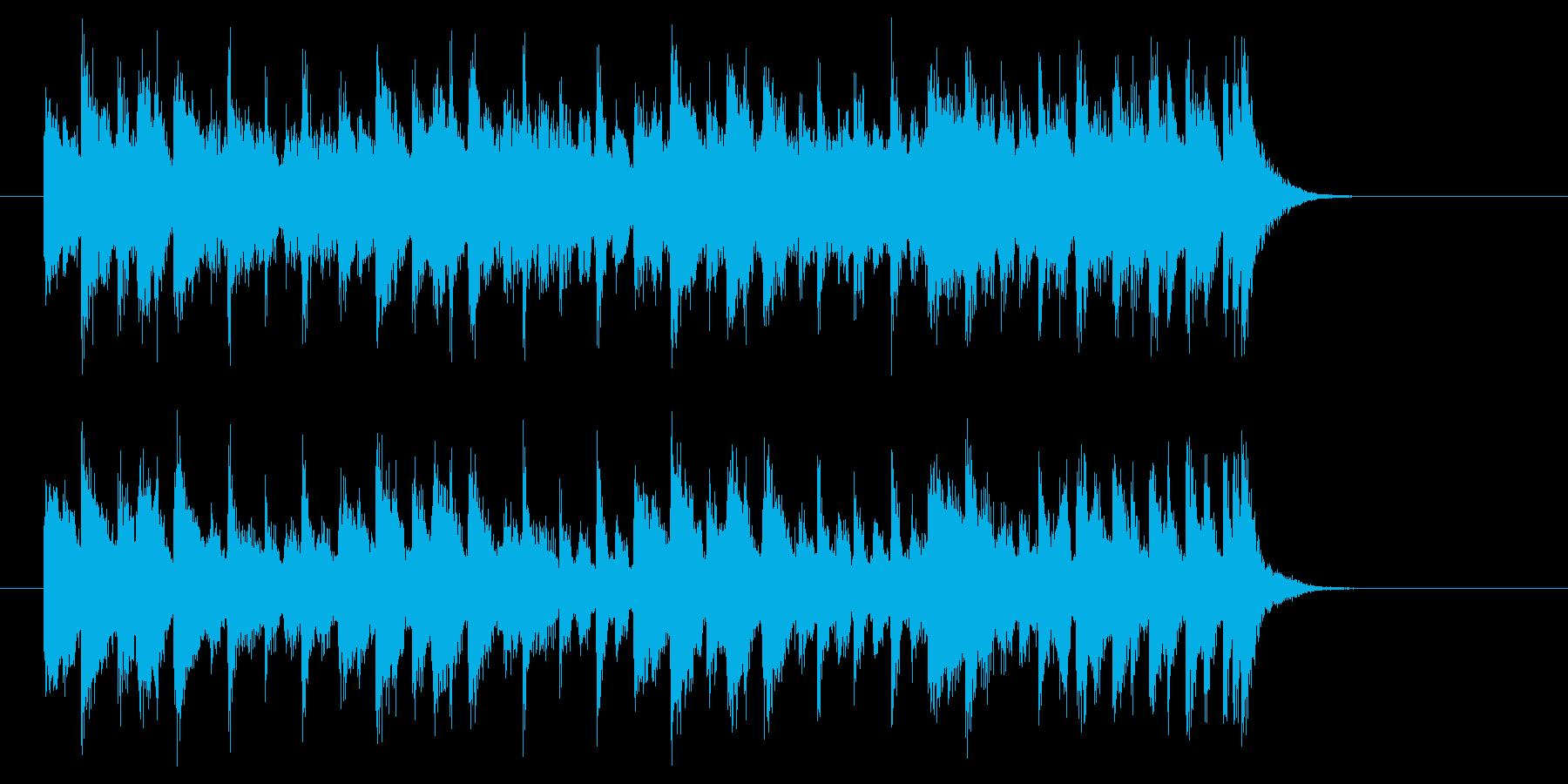 アップテンポで明るいポップジングルの再生済みの波形