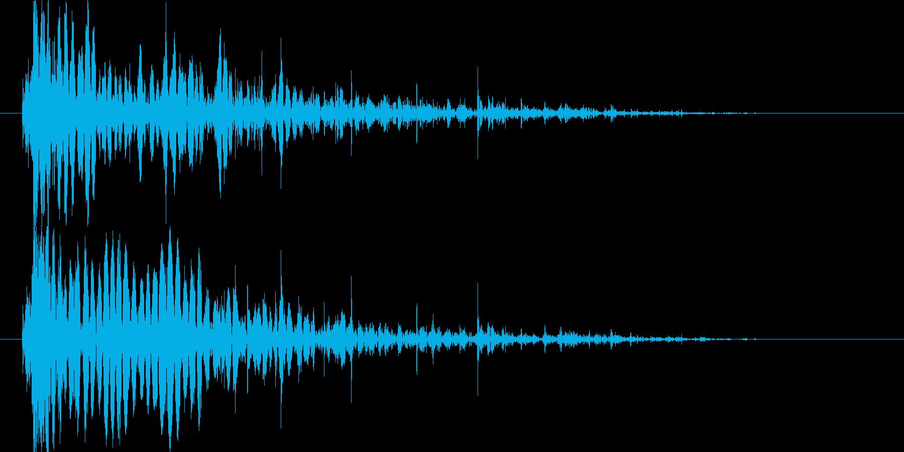 岩やブロックが壊れる音ガラガラの再生済みの波形