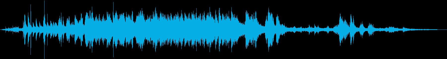 初詣、神社の鈴の音の再生済みの波形