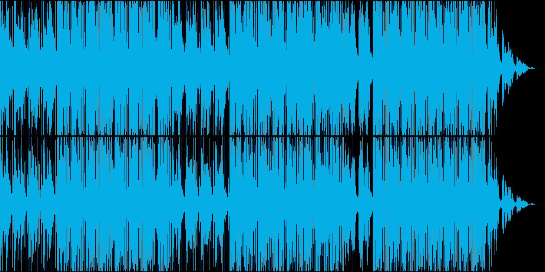 青白い海を眺めているような曲の再生済みの波形