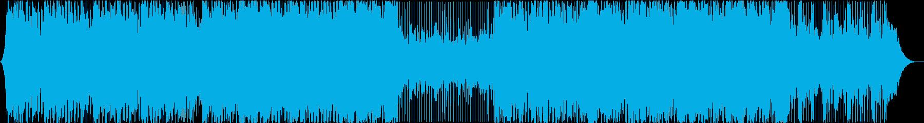 前向き、明るいコーポレート系の再生済みの波形