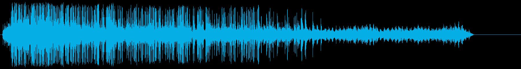 シュレッダー動作音の再生済みの波形