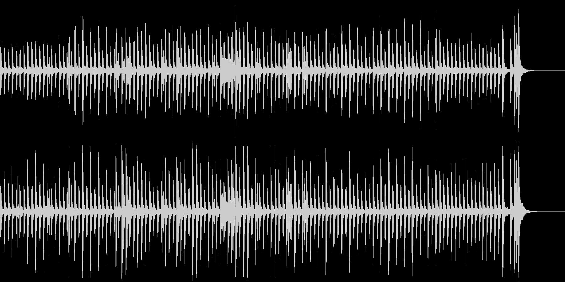 不思議、かわいくてヘンテコなピアノ曲の未再生の波形