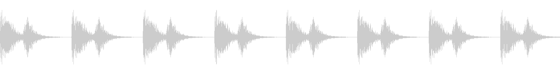 シューティング発射音(連射)の未再生の波形