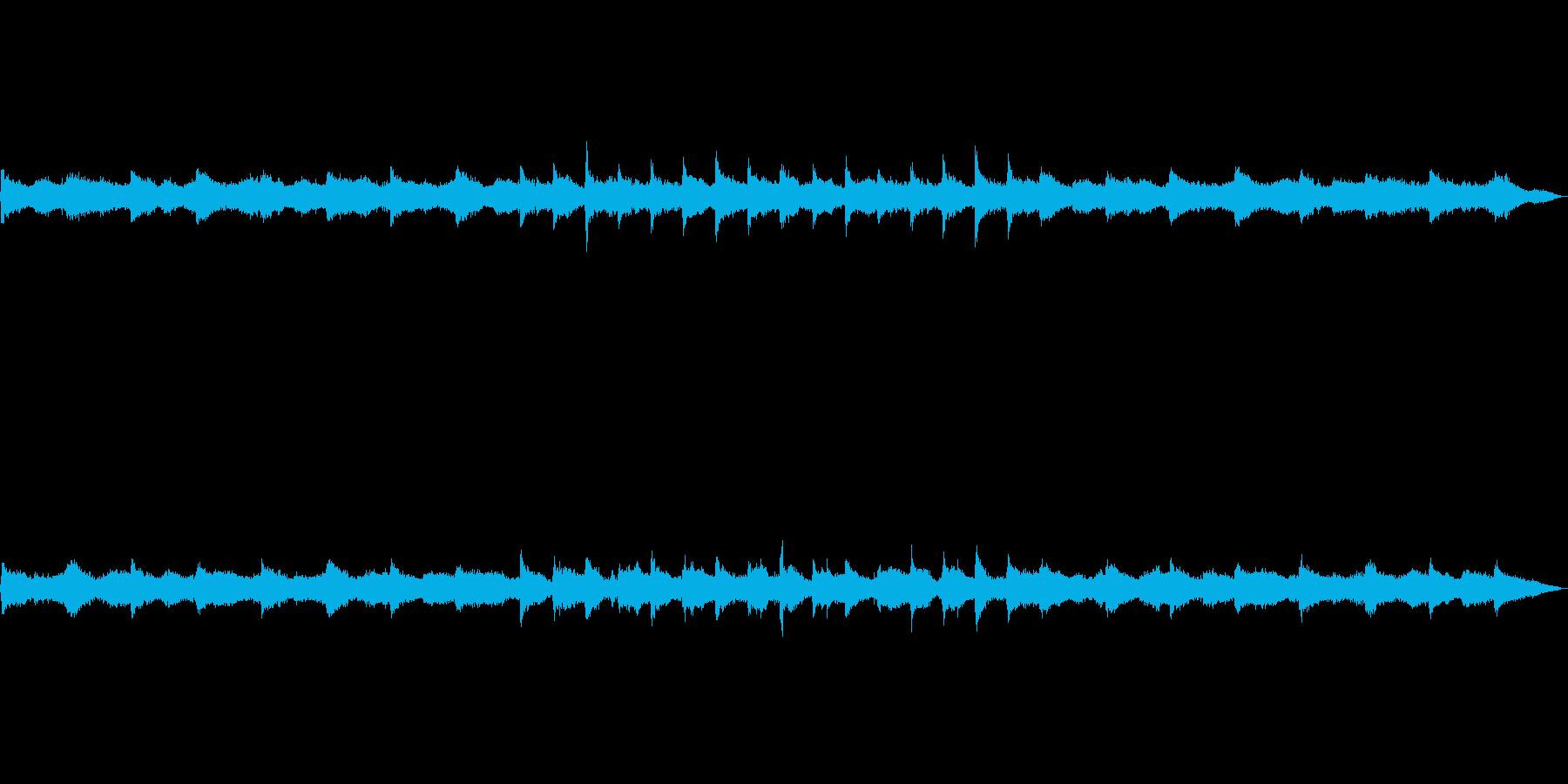 神秘な宇宙空間をただようイメージの曲の再生済みの波形