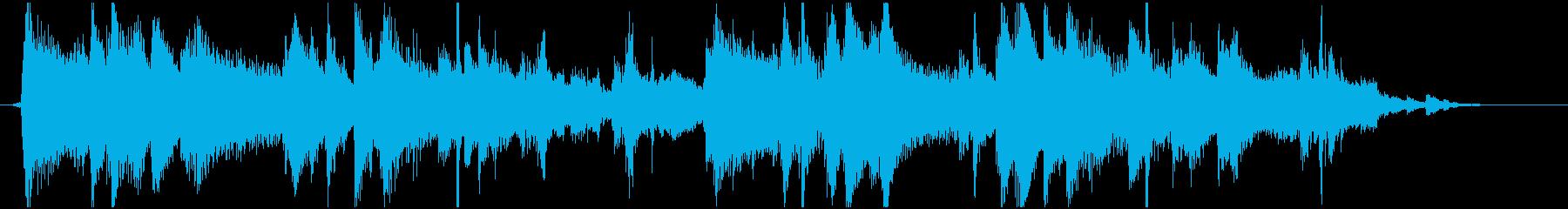 ジャジーでクールなジングルの再生済みの波形