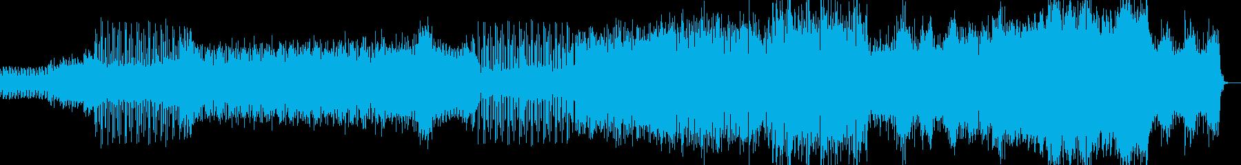 重厚感のあるテクノの再生済みの波形