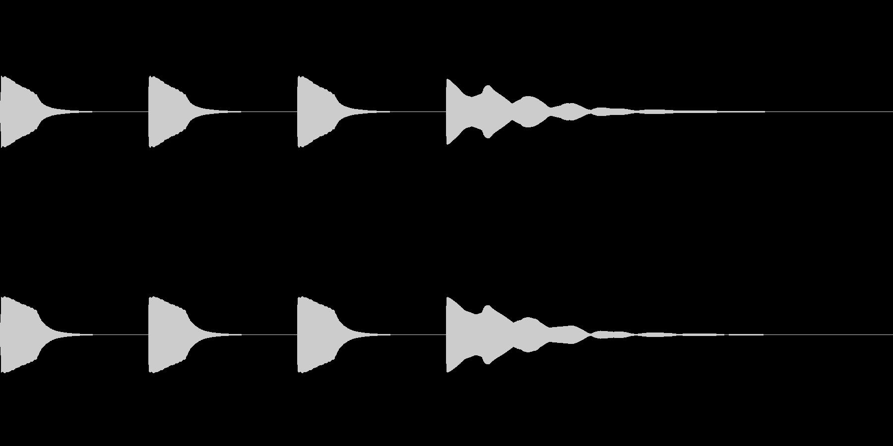 レースのスタート音・時報 (ノーマル音)の未再生の波形