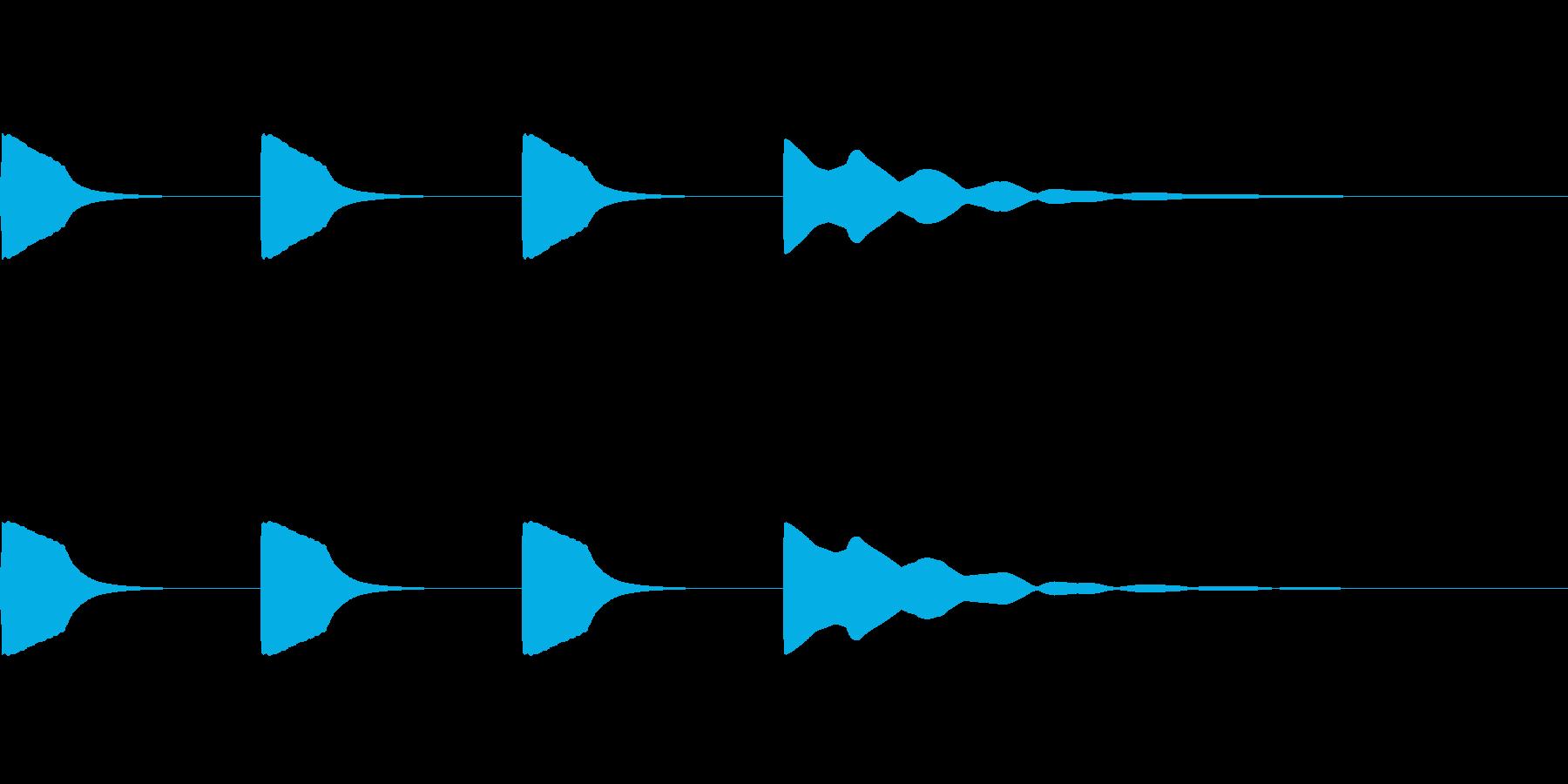 レースのスタート音・時報 (ノーマル音)の再生済みの波形