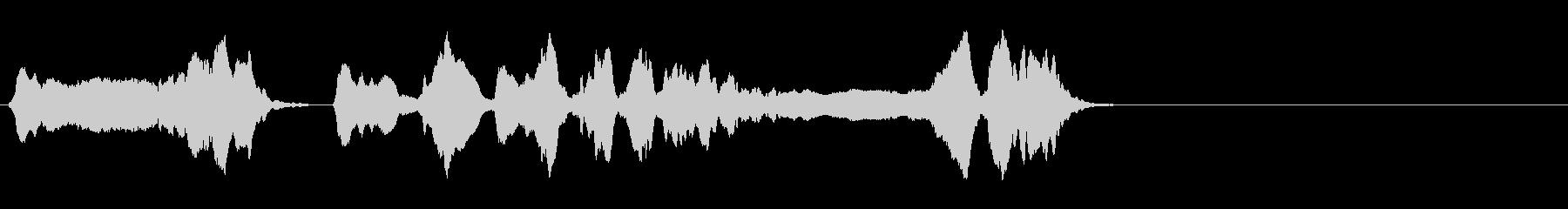 尺八 生演奏 古典風 残響音無し 1の未再生の波形