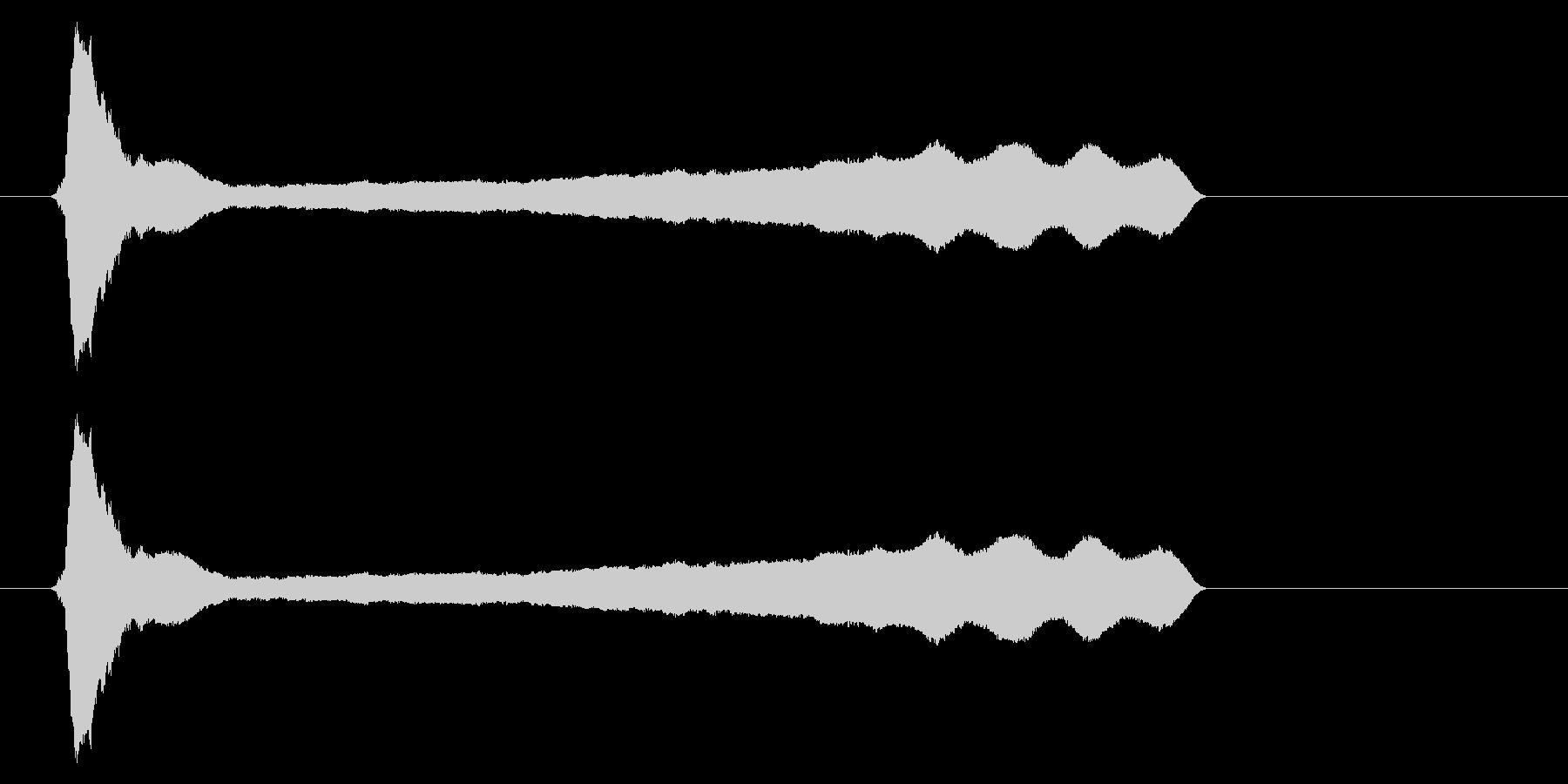 ピィーー!横笛2ロングの未再生の波形