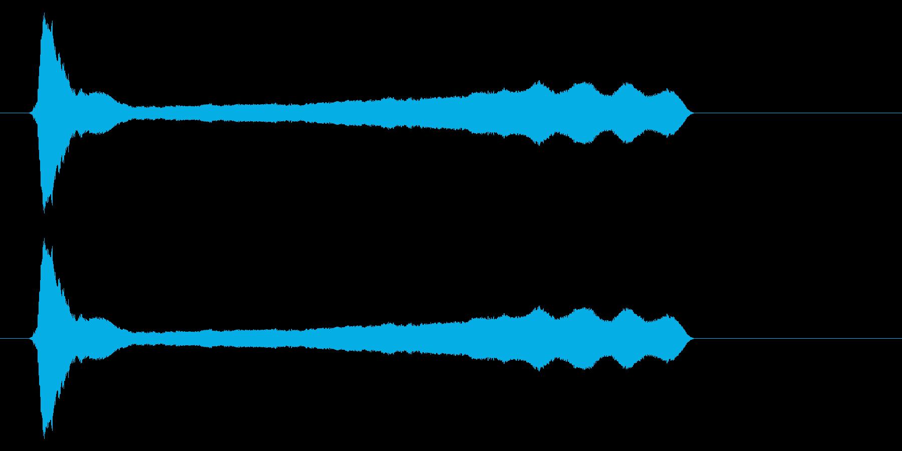 ピィーー!横笛2ロングの再生済みの波形